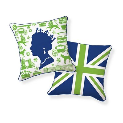 Royal Highness Reversible Cotton Throw Pillow