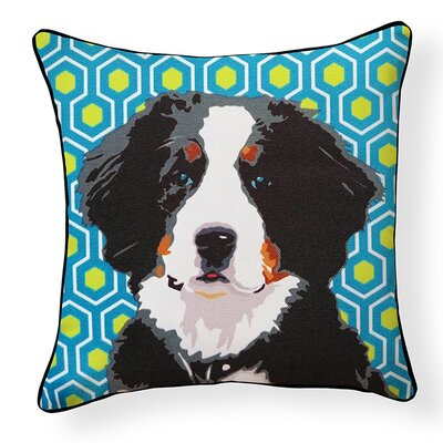 Pooch D�cor Bernese Mountain Dog Indoor/Outdoor Throw Pillow