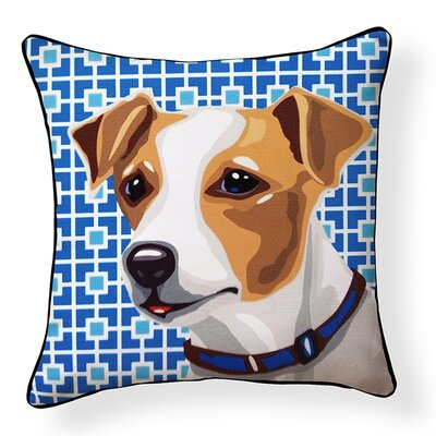 Pooch D�cor Jack Russell Indoor/Outdoor Throw Pillow