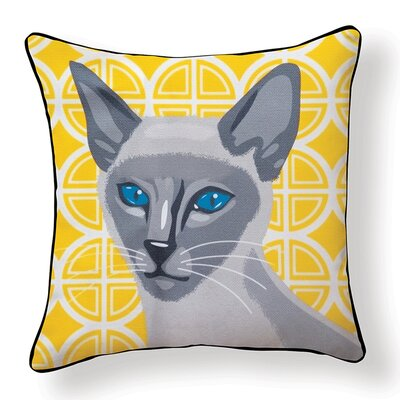 Siamese Cat Indoor/Outdoor Throw Pillow