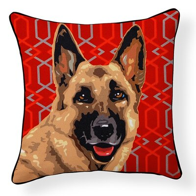 Pooch D�cor German Shepherd Indoor/Outdoor Throw Pillow