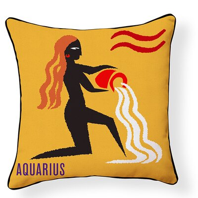 Aquarius Indoor/Outdoor Throw Pillow