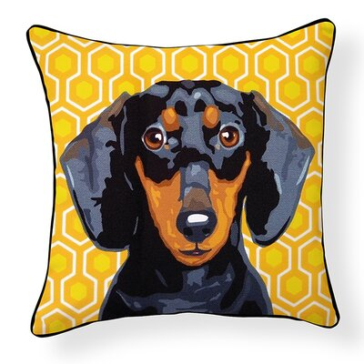 Duren Dachshund Indoor/Outdoor Throw Pillow