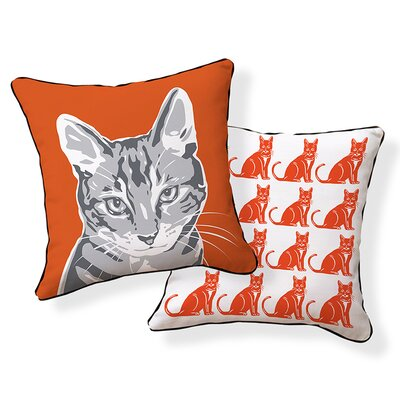 Little Cat Throw Pillow