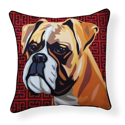 Pooch D�cor Boxer Indoor/Outdoor Throw Pillow