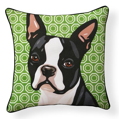 Pooch Decor Boston Terrier Indoor/Outdoor Throw Pillow