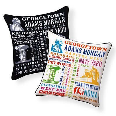 Capital City Indoor/Outdoor Throw Pillow
