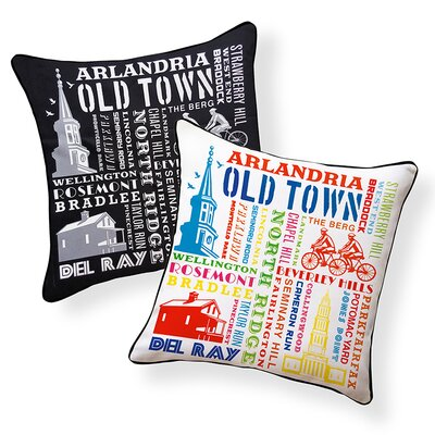 Alexandria, Virginia City Indoor/Outdoor Throw Pillow