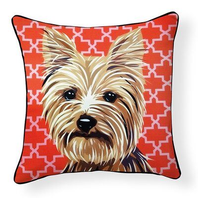 Pooch D�cor Yorkshire Terrier Indoor/Outdoor Throw Pillow