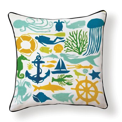 Under the Sea Indoor/Outdoor Throw Pillow