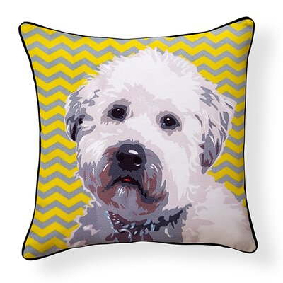 Pooch D�cor Wheaten Terrier Indoor/Outdoor Throw Pillow