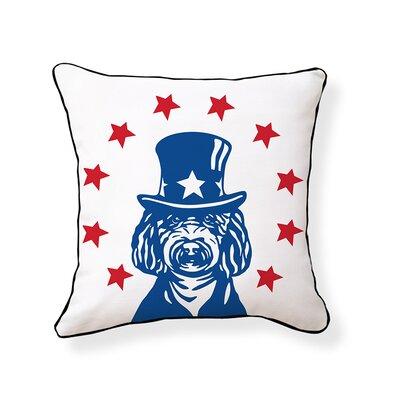 American Labradoodle Cotton Throw Pillow