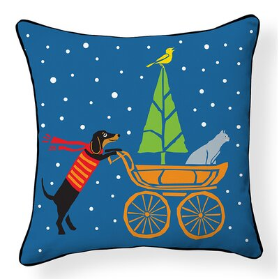 Dog, Cat and Baby Stroller Indoor/Outdoor Throw Pillow