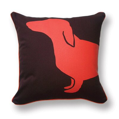 Happy Hot Dog Indoor/Outdoor Throw Pillow