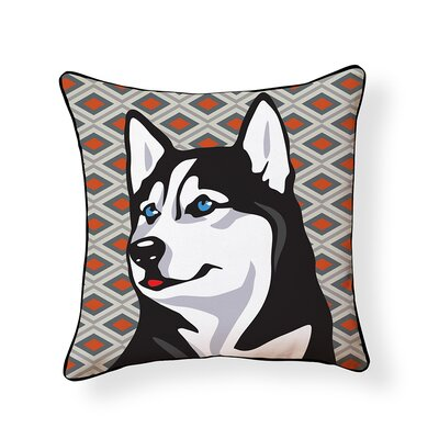 Pooch D�cor Husky Indoor/Outdoor Throw Pillow