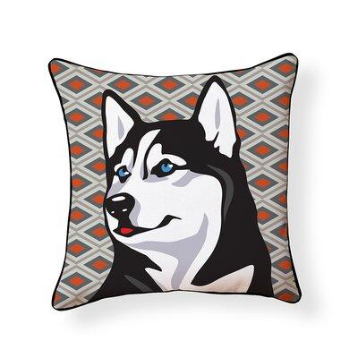 Pooch D�cor Husky Indoor/Outdoor Throw Pillow