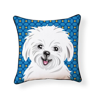 Pooch D�cor Maltese Indoor/Outdoor Throw Pillow