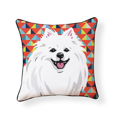 Pooch D�cor American Eskimo Indoor/Outdoor Throw Pillow
