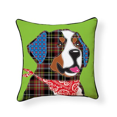 Bernese Mountian Puppy Throw Pillow