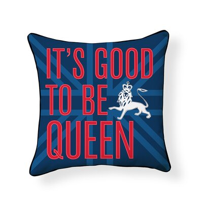 Good to be Queen Throw Pillow