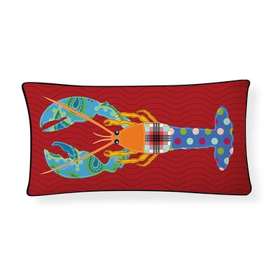 Giant Lobster Lumbar Pillow