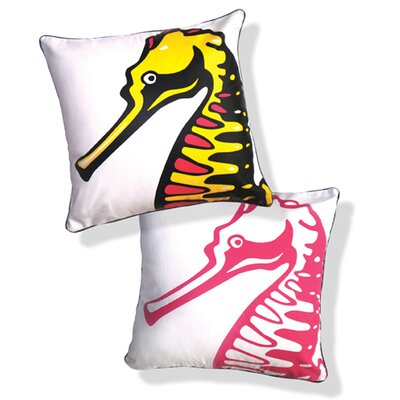 Under the Sea Reversible Stately Seahorse Pillow