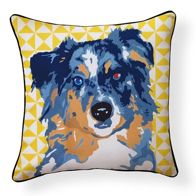 Duren Australian Shepherd Indoor/Outdoor Throw Pillow