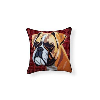 Boxer Cotton Throw Pillow