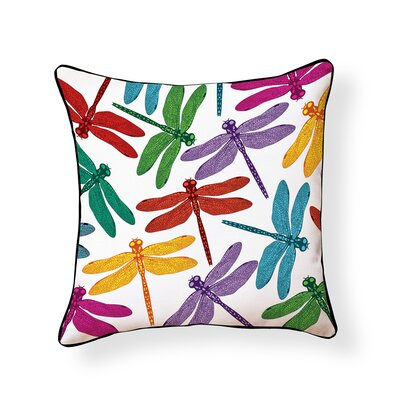Equinox Dragonfly Outdoor Throw Pillow