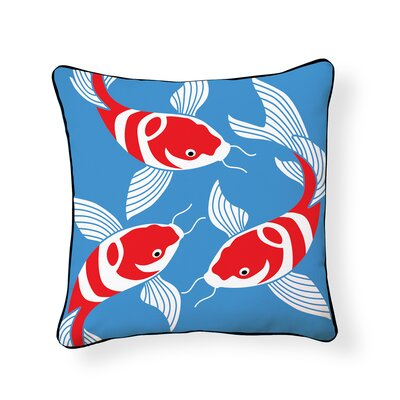 Brookmont Three Koi Outdoor Throw Pillow