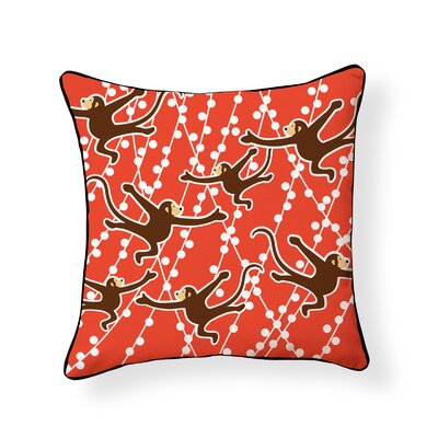 Autry Monkeys Outdoor Throw Pillow