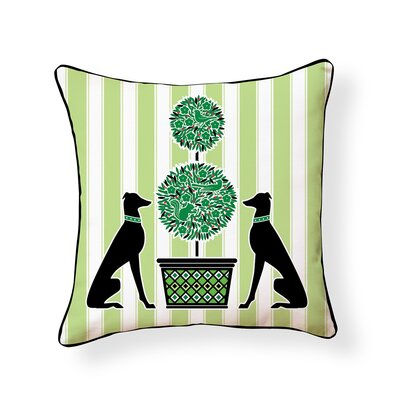 Weisser Garden Hound Outdoor Throw Pillow