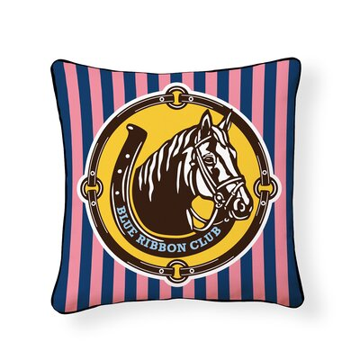 Eragny Equestrian Horse Outdoor Throw Pillow