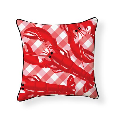 Regis Lobster Outdoor Throw Pillow
