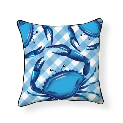 Osbourne Crab Outdoor Throw Pillow