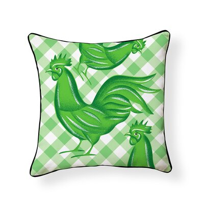 Shinde Rooster Outdoor Throw Pillow