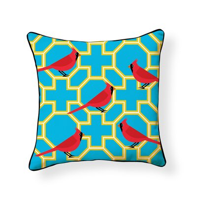 Shetty Cardinal Outdoor Throw Pillow