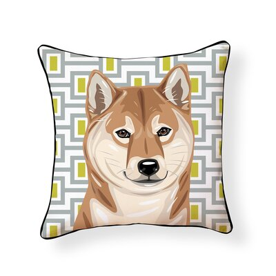 Pooch Shiba Inu Outdoor Throw Pillow
