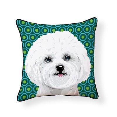 Pooch Bichon Outdoor Throw Pillow