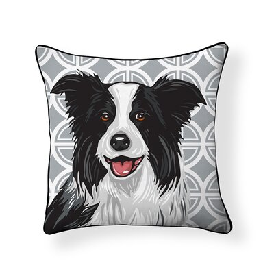 Pooch Border Collie Outdoor Throw Pillow
