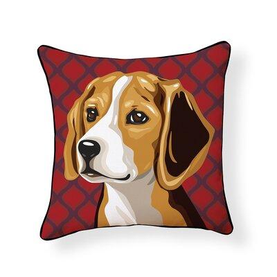 Pooch Beagle Outdoor Throw Pillow
