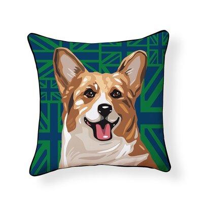 Pooch Corgi Outdoor Throw Pillow