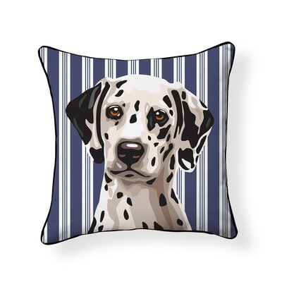 Pooch Dalmatian Outdoor Throw Pillow