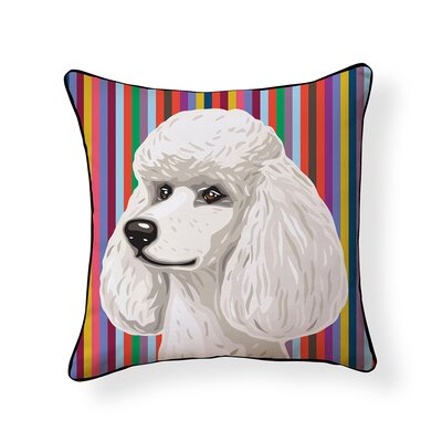 Pooch Poodle Outdoor Throw Pillow