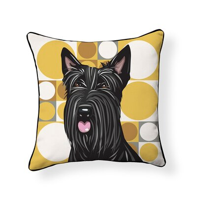 Pooch Scottish Terrier Outdoor Throw Pillow