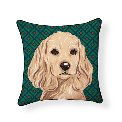 Pooch Cocker Spaniel Outdoor Throw Pillow