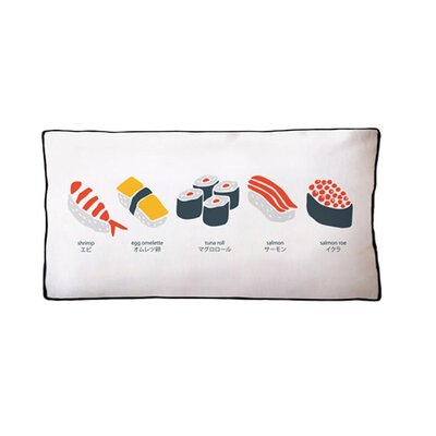 Simply Sushi Cotton Boudoir/Breakfast Pillow