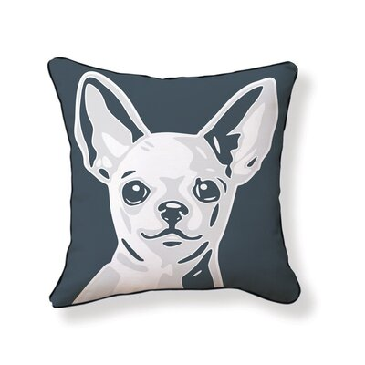 Chi Hua Hua Reversible Cotton Throw Pillow