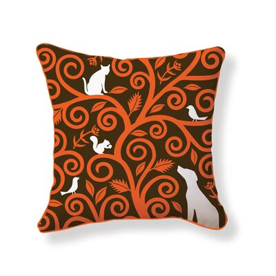 Tree of Animals Double Sided Cotton Throw Pillow