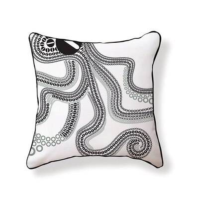 O is for Octopus Cotton Throw Pillow
